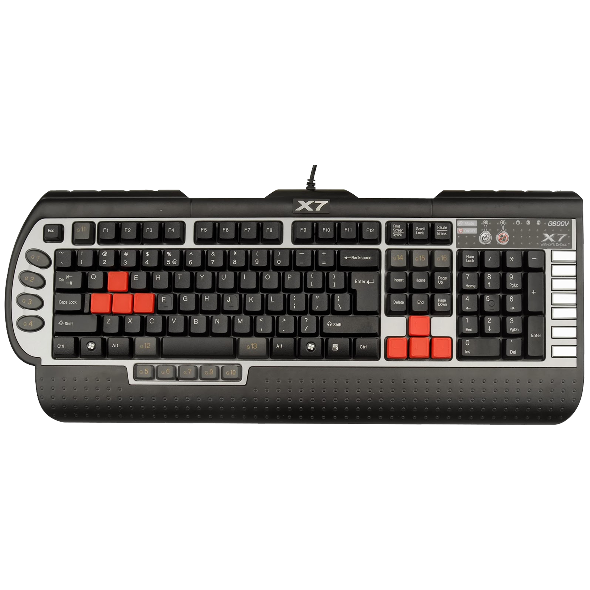 Teclado USB Multimidia Gamer X7G800V - A4Tech