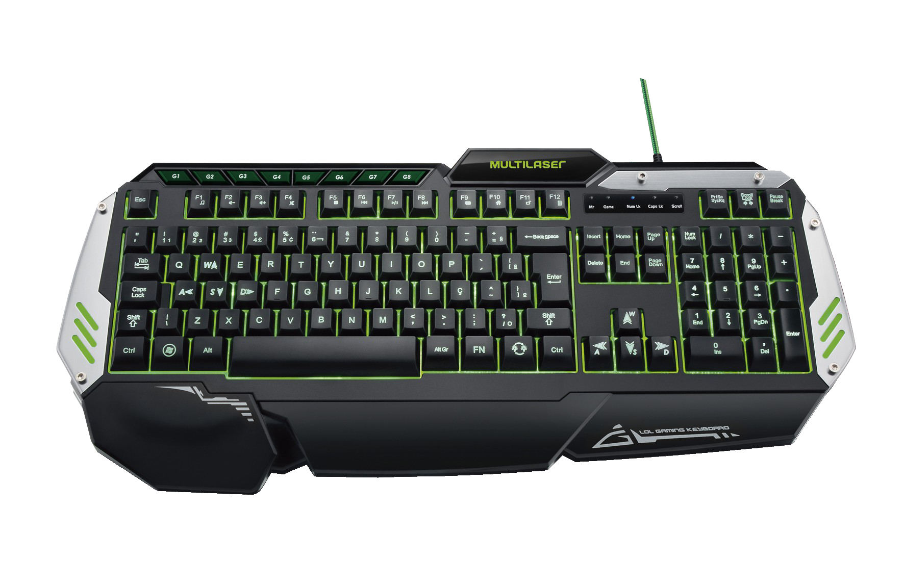 Teclado USB Multimi. Gamer TC189 - Multilaser