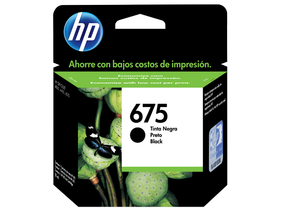 Cartucho HP 675 Preto Original