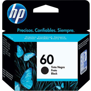 Cartucho HP 60 Preto Original