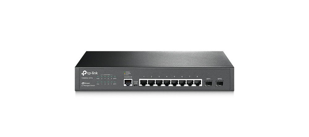 Switch Gerenciável 8 Portas T2500-10TS - TP Link